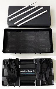 Die Einzelteile der Foldon Box